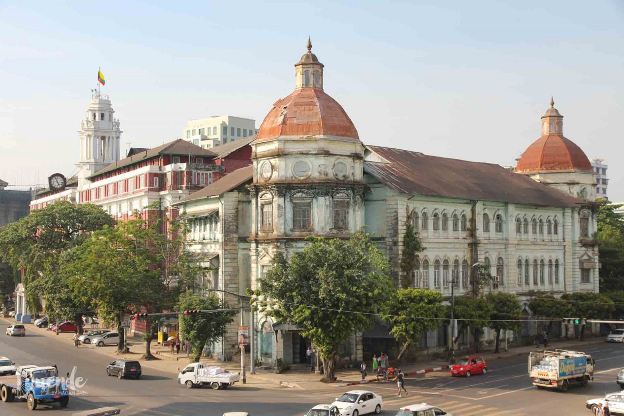 Former British Customs Office, now a courthouse in Yangon, Myanmar