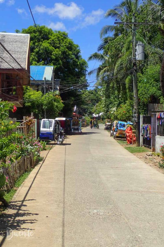 Back streets of Boracay