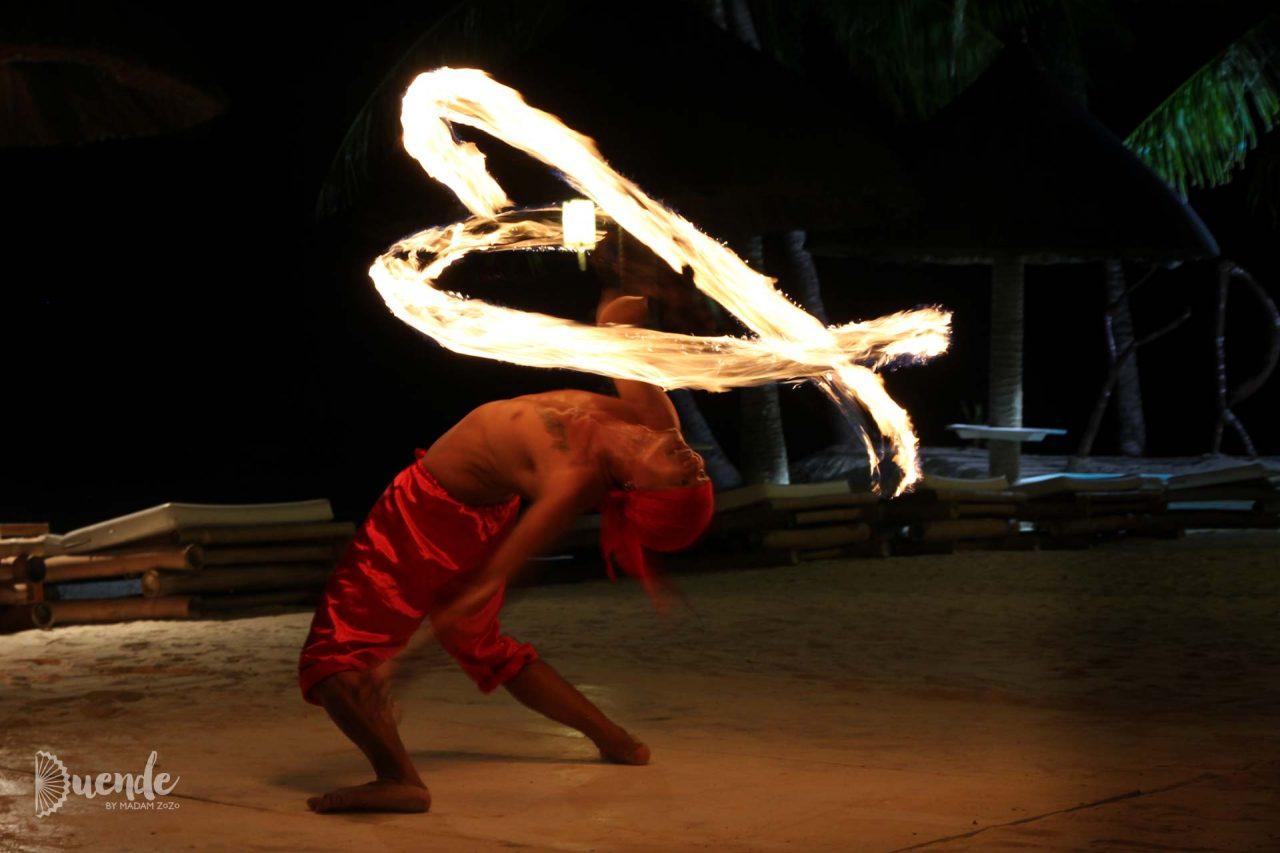 Friday's Boracay cultural night with fire dancer
