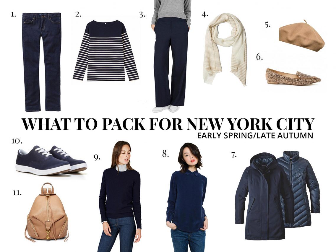 Waht to pack for New York City in early spring/late autumn