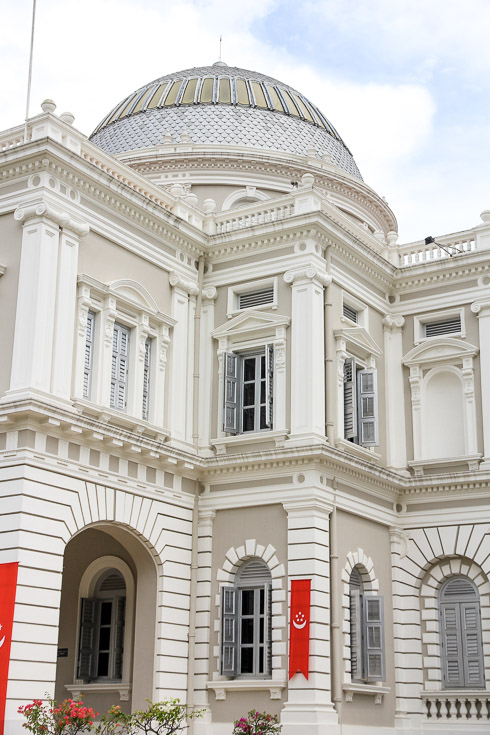 Exterior details of the National Museum of Singapore