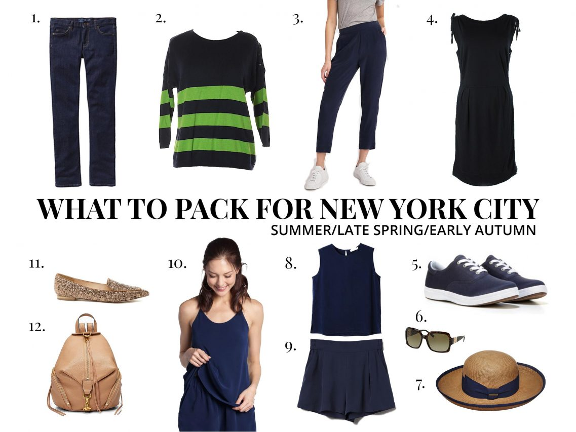 What to pack for New York City in summer, late spring and early autumn - May, June, July, August, September