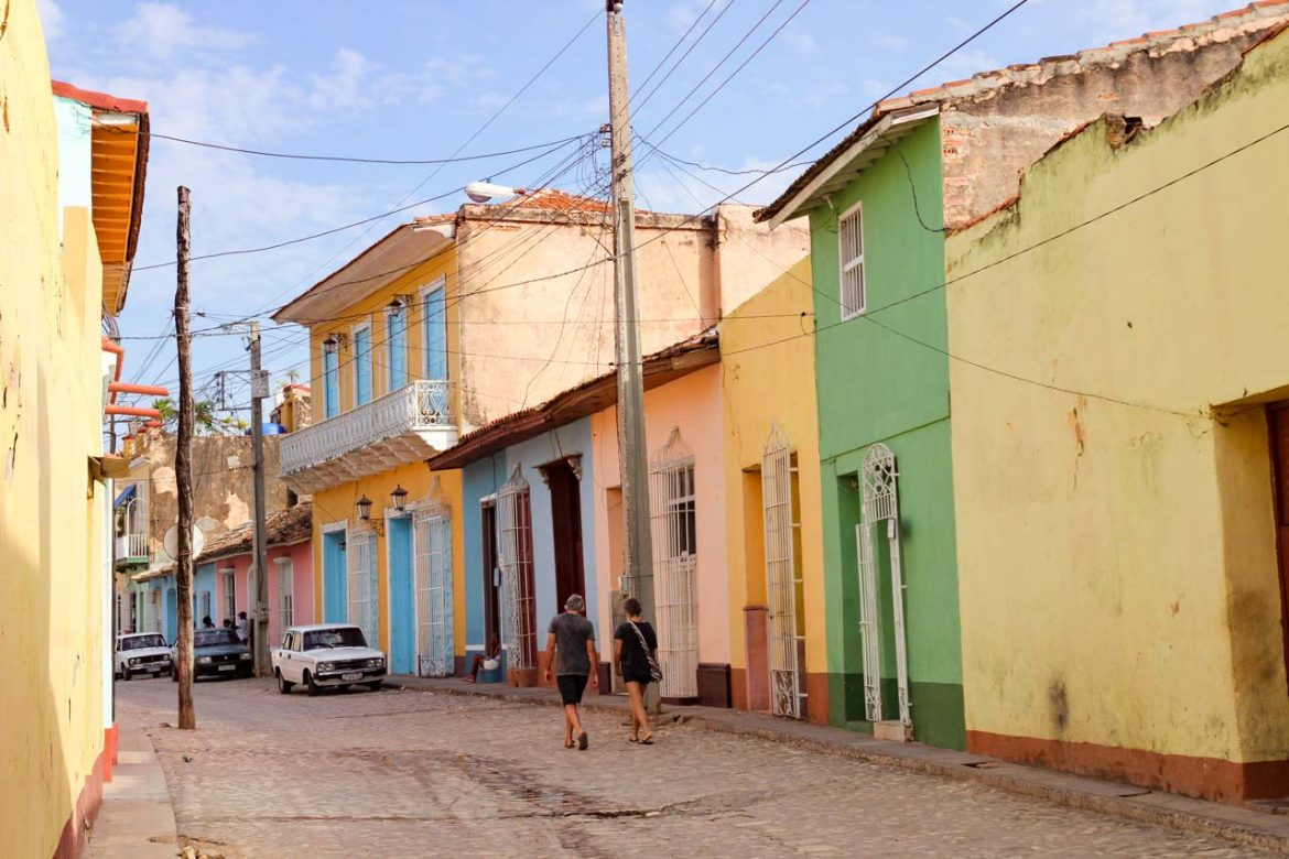 Colourful buildings in a Trinidad street