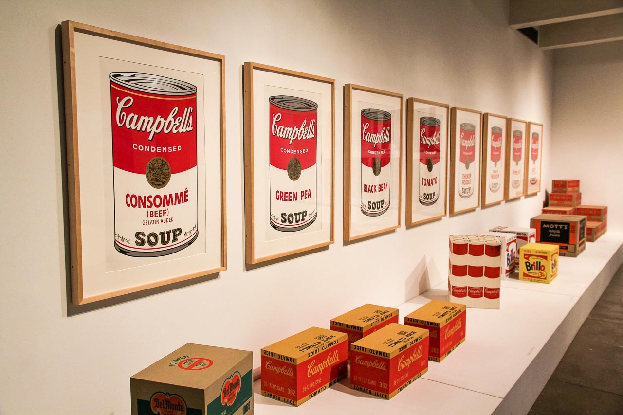 Campell Soup portraits in the Andy Warhol Museum, Pittsburgh