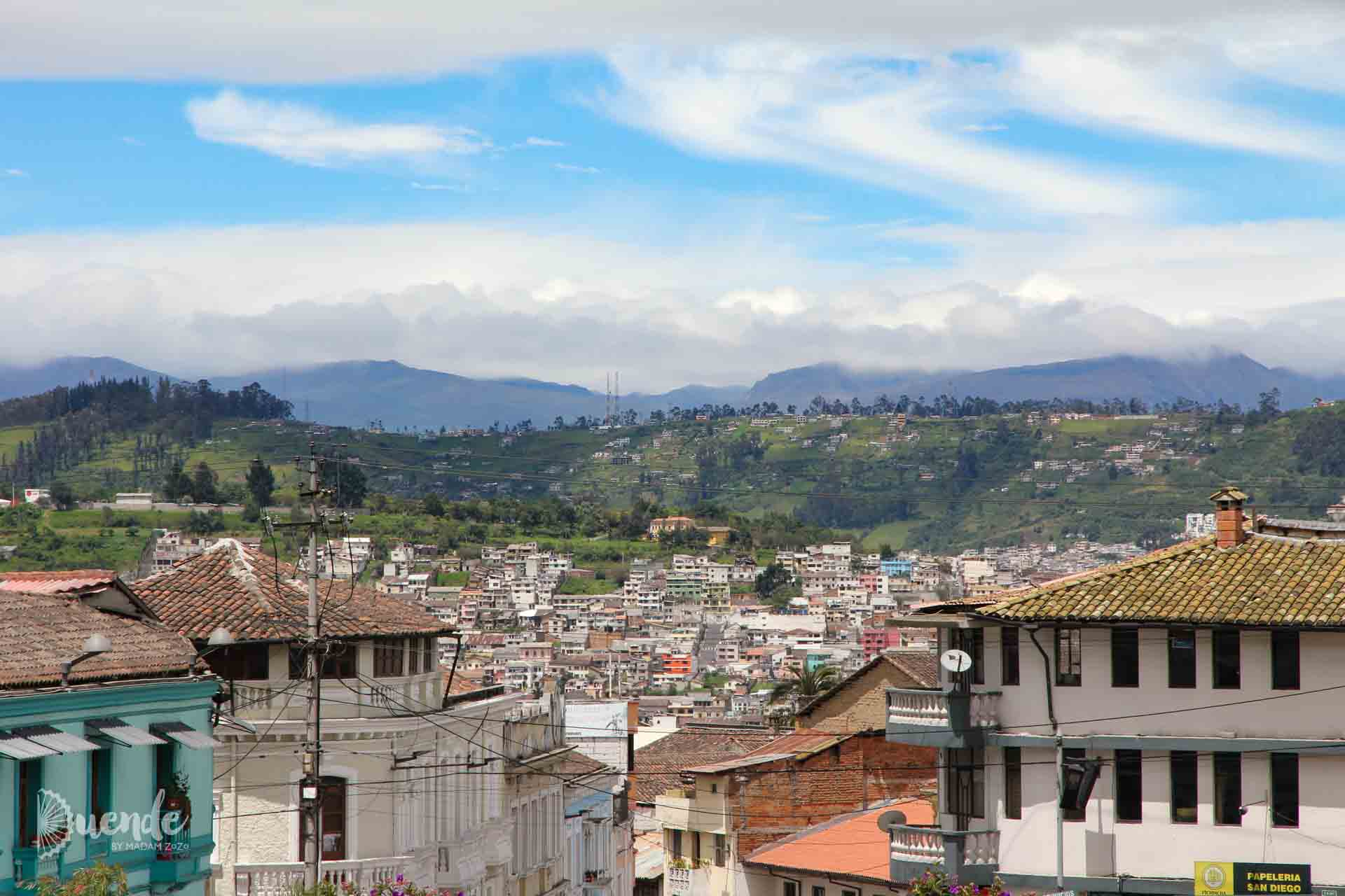 Views from Quito Old Town