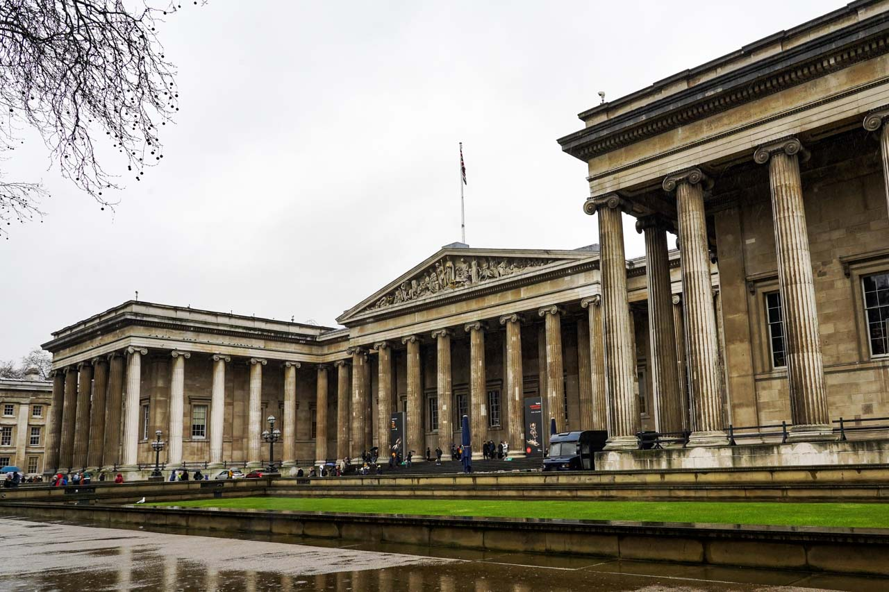 Photo of the British Museum on rainy day