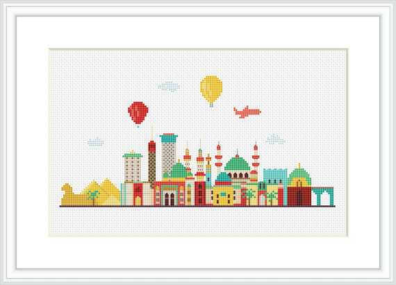 Egypt Cross Stitch Pattern by Xrestyk on Etsy