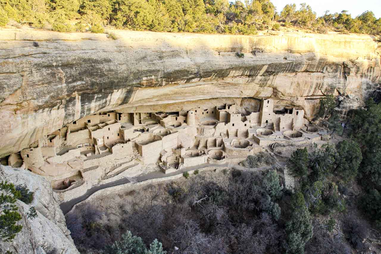 Ancient cliff dwellings at Mesa Verde, Colorado