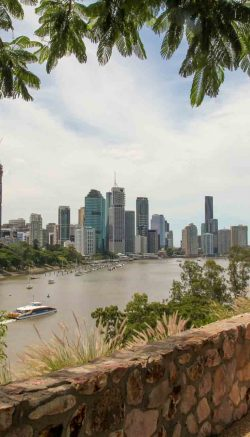 Brisbane, Australia, viewed from Kangaroo Point