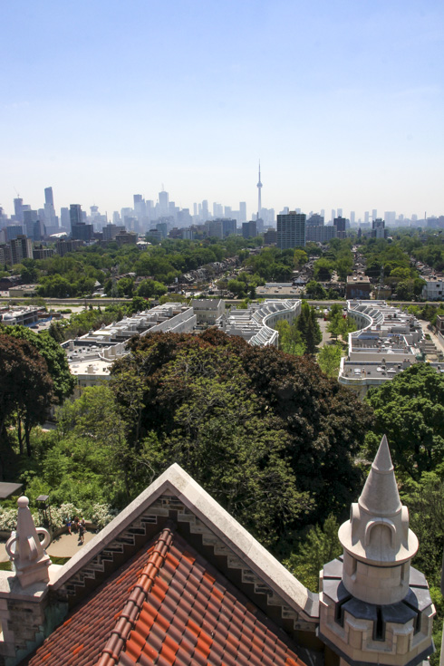 View over Toronto from one of Casa Loma's towers