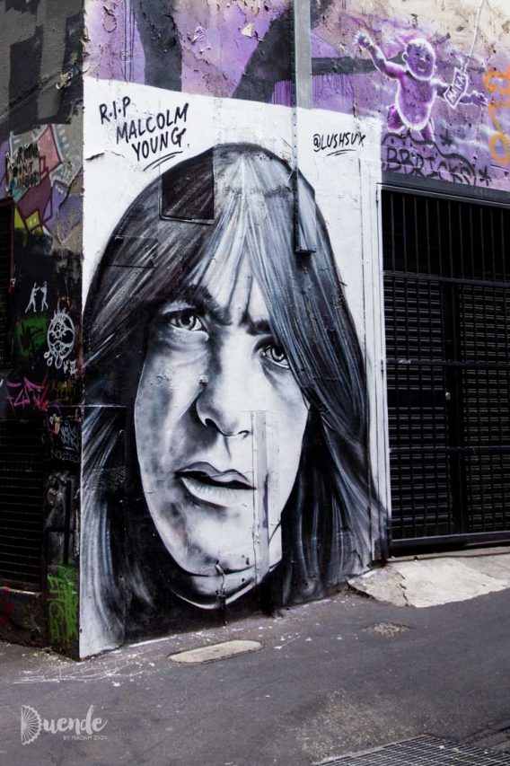 Malcolm Young tribute in AC/DC Lane