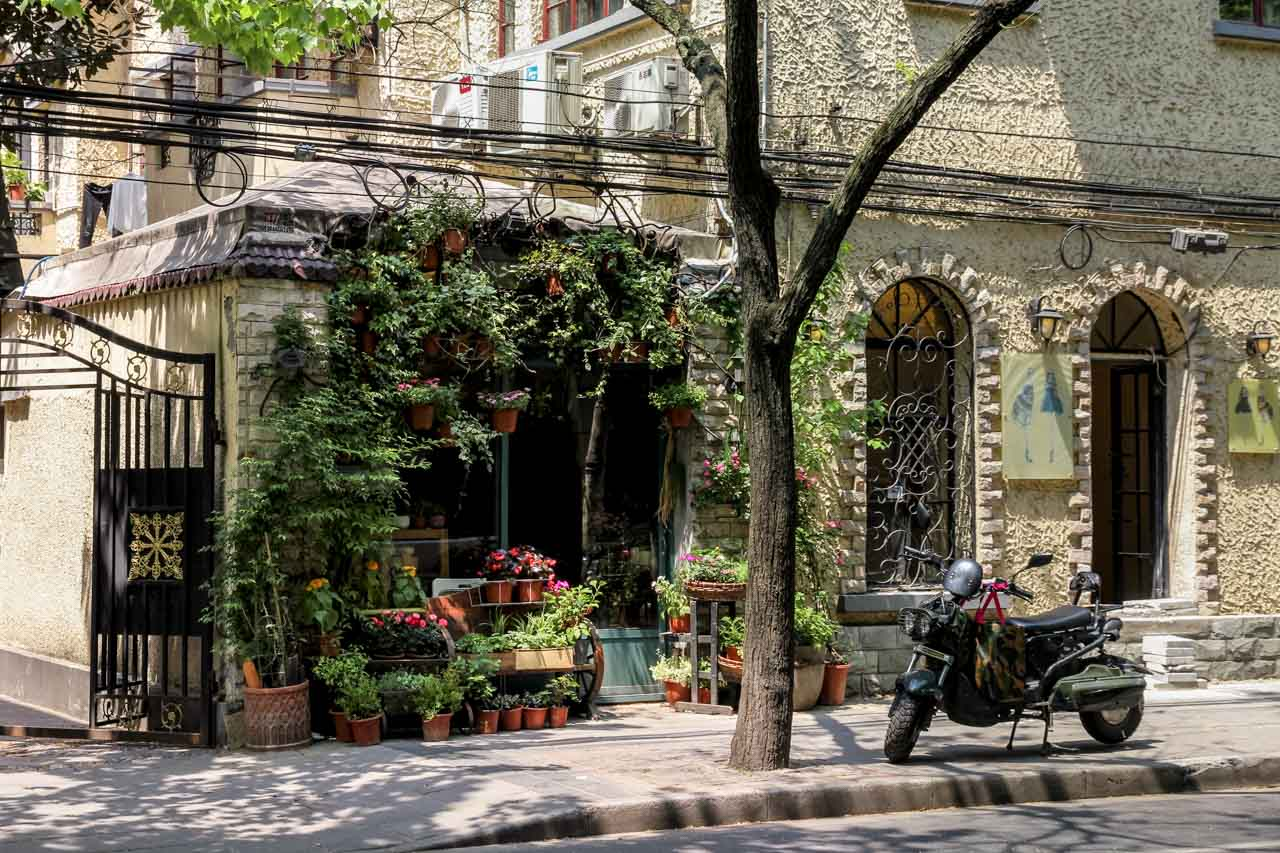 Flower shop in the French Concession of Shanghai