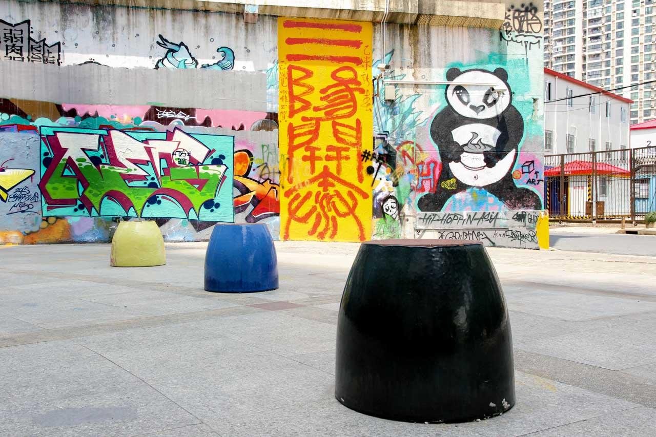 Street art in the M50 Arts District
