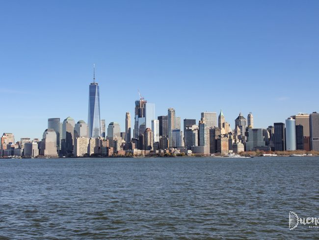 Manhattan skyline from the Statue of Liberty, New York City