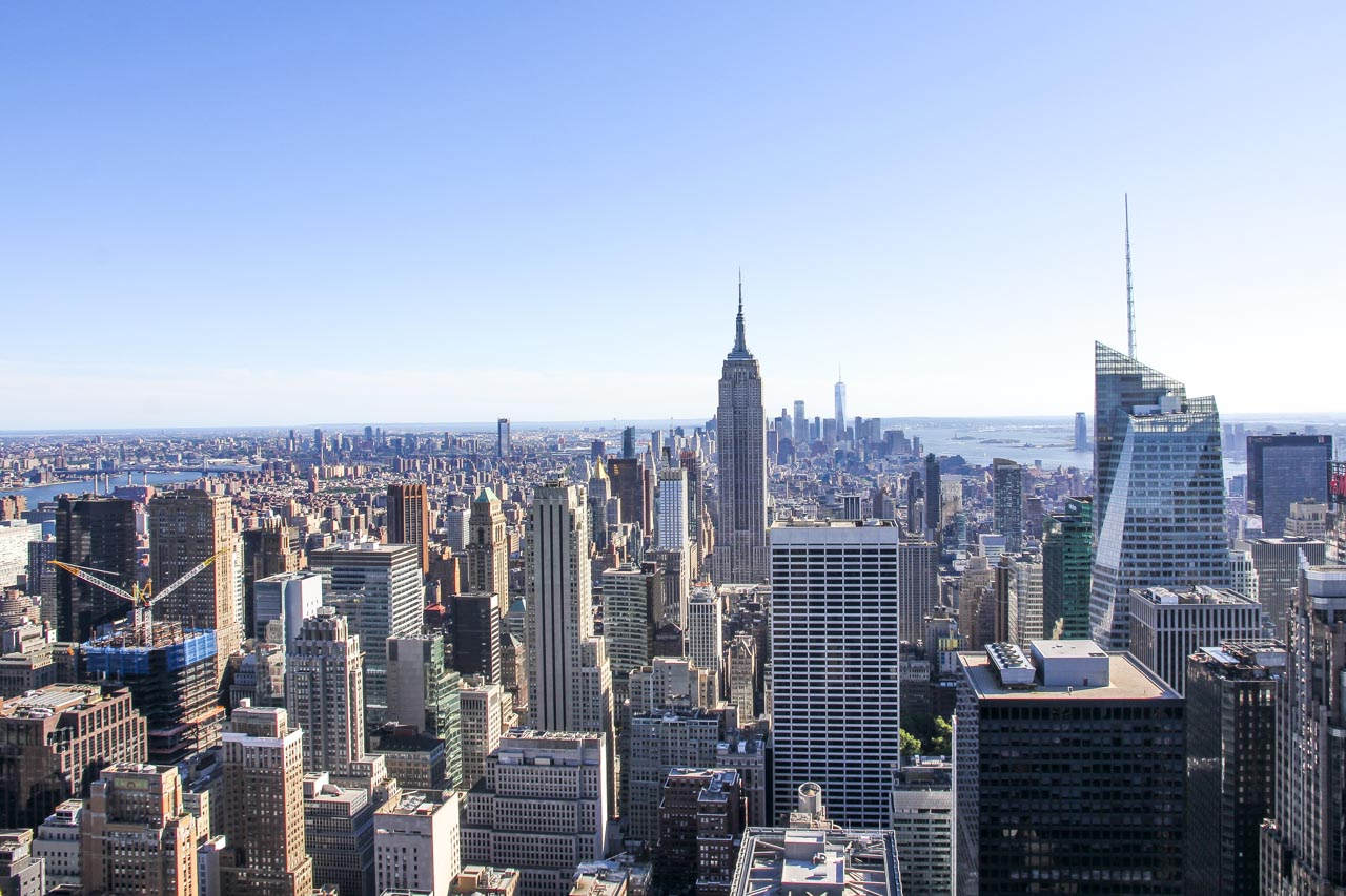 View looking Downtown from Top of the Rock
