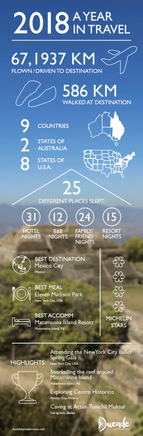 2018 A Year in Travel - Infographic