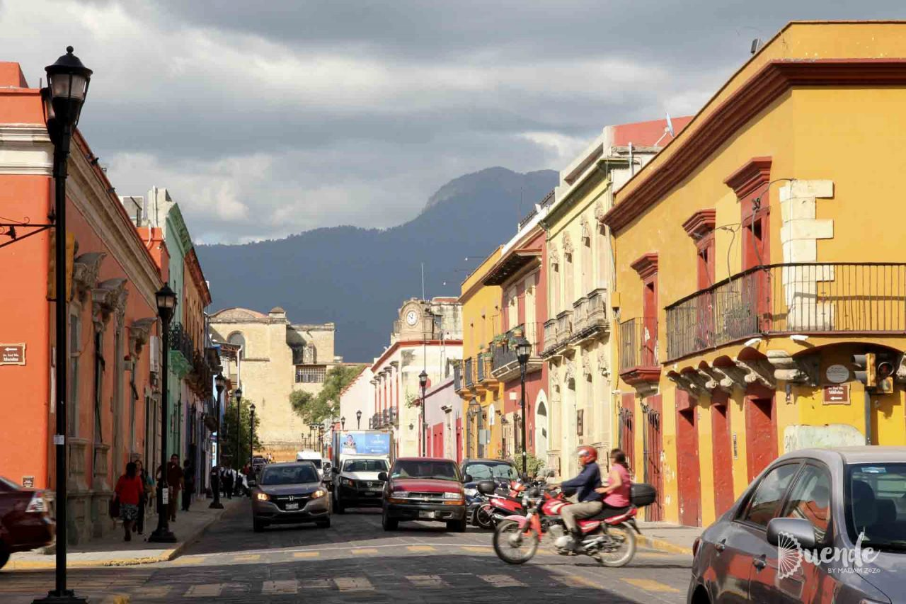 Colourful Oaxaca City streets