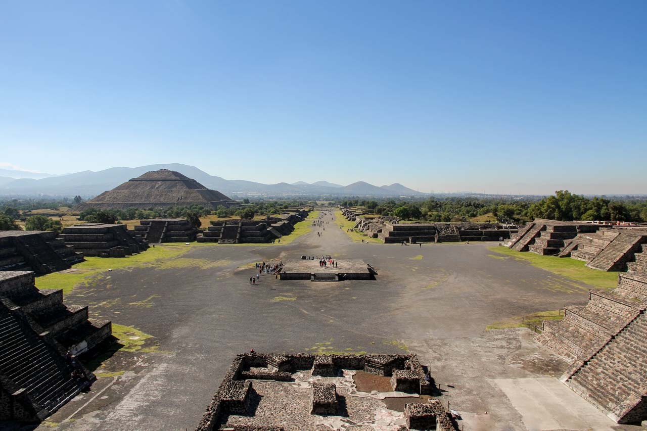 Looking down Avenue of the Dead from the Pyramid of the Moon