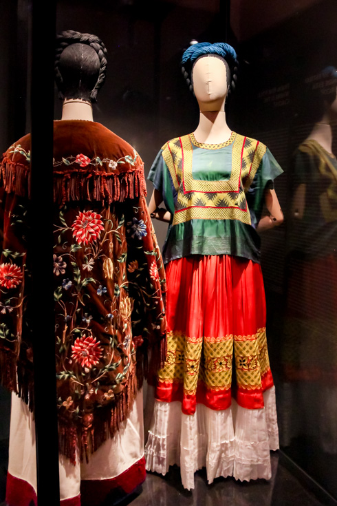 Exhibition of Frida Kahlo's clothing