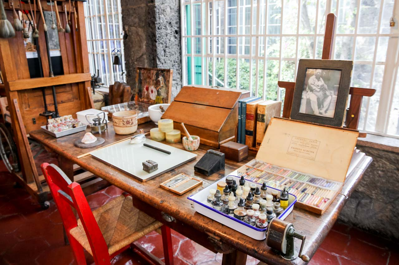Frida Kahlo's studio at The Blue House