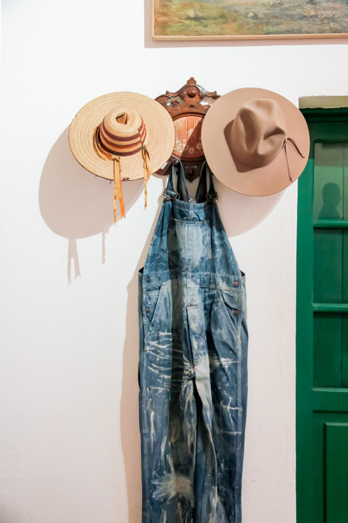 Diego's overalls and hats