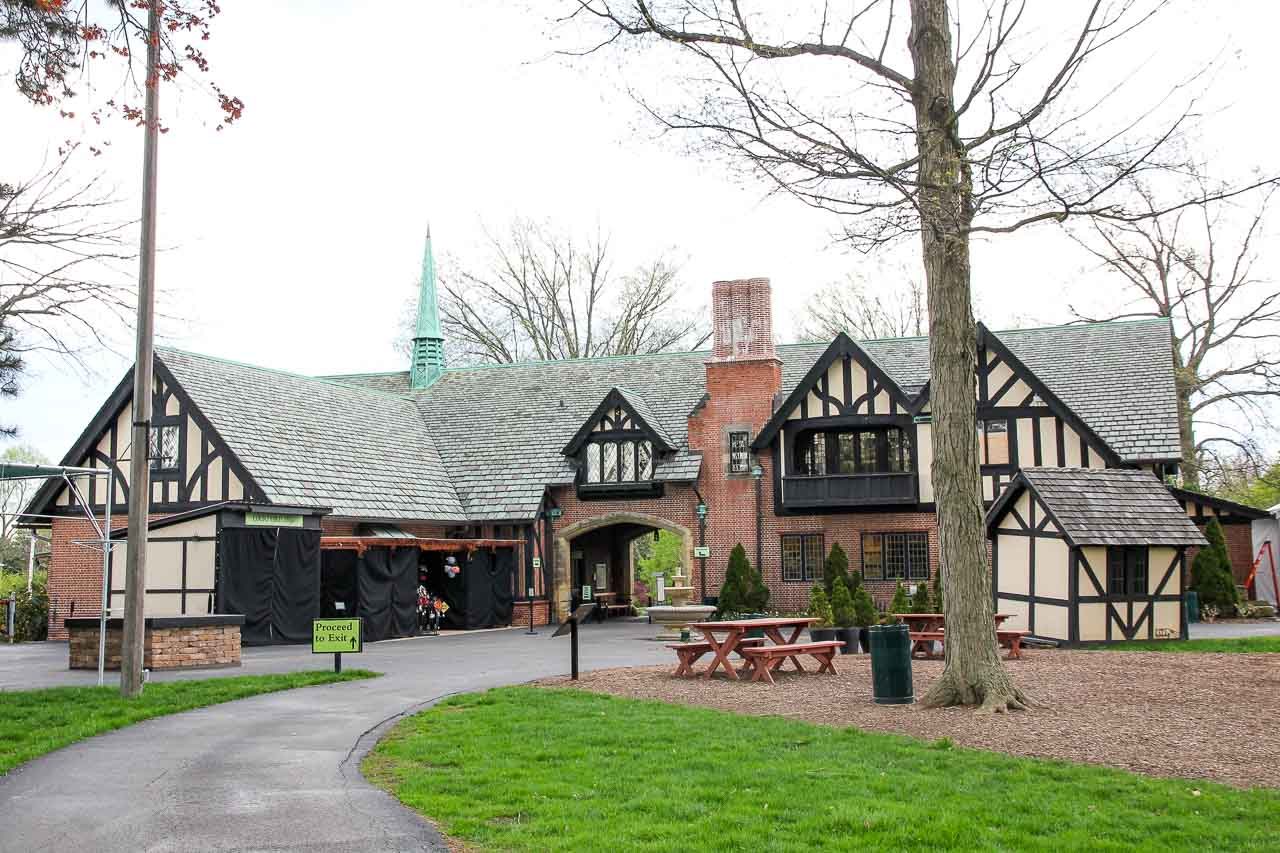 Photo of Tudor Revival style carriage house