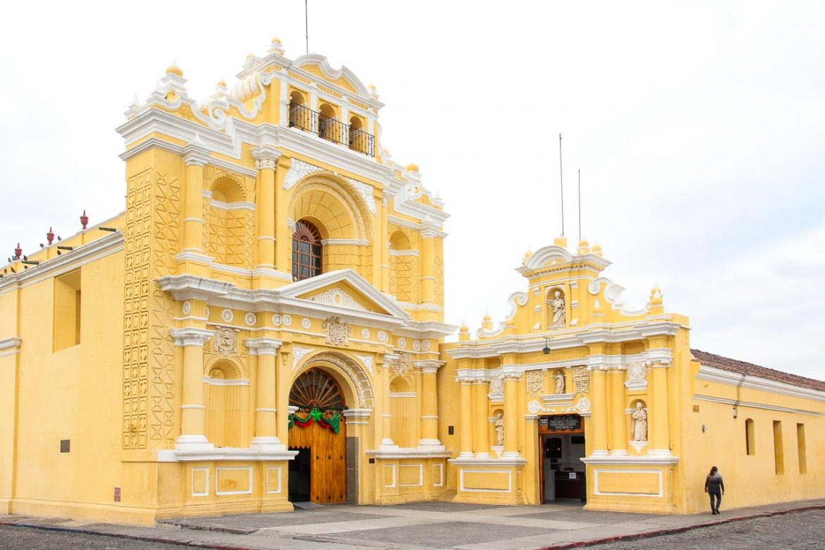 Yellow and white baroque church