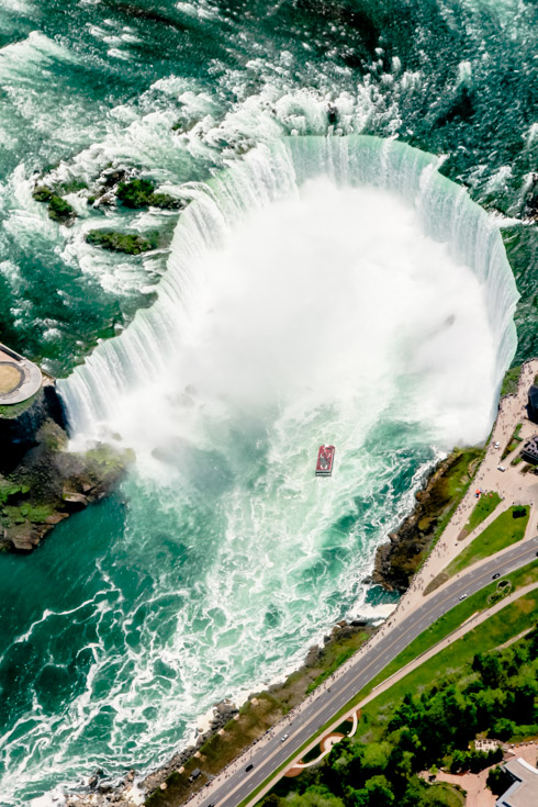 Niagara Falls viewed from helicopter