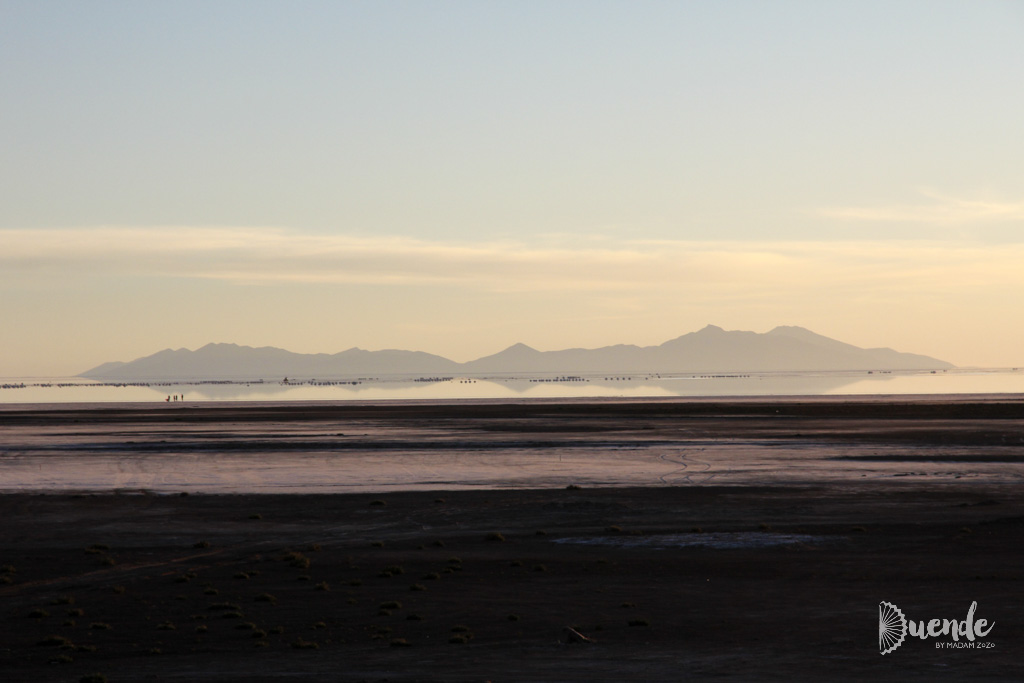 Sunset views to the salt flats from Palacio de Sal