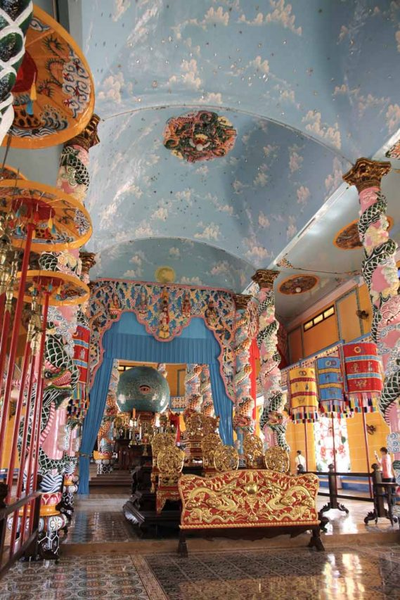 Interior of the Cao Dai Great Temple