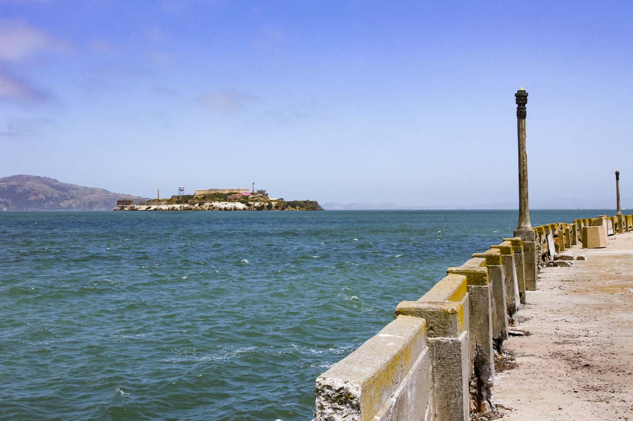View of Alcatraz from Aquatic Park Pier