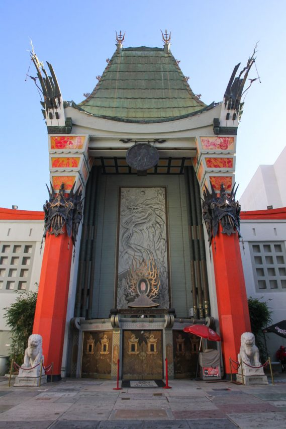 Front entrance of Chinese Theatre