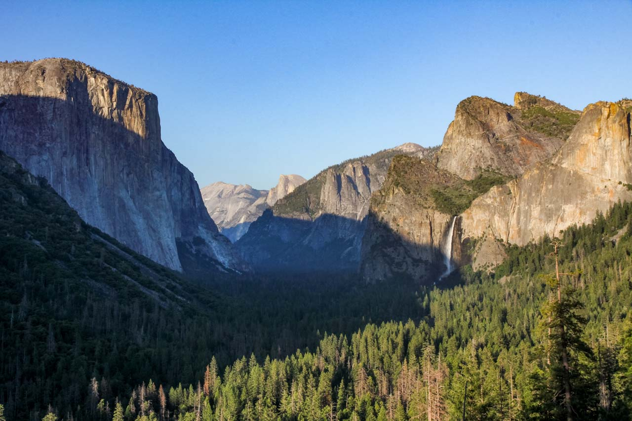 Tunnel View near sunset with