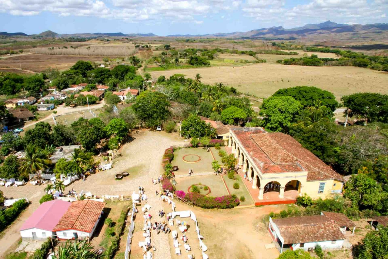 View of valley and hacienda from above