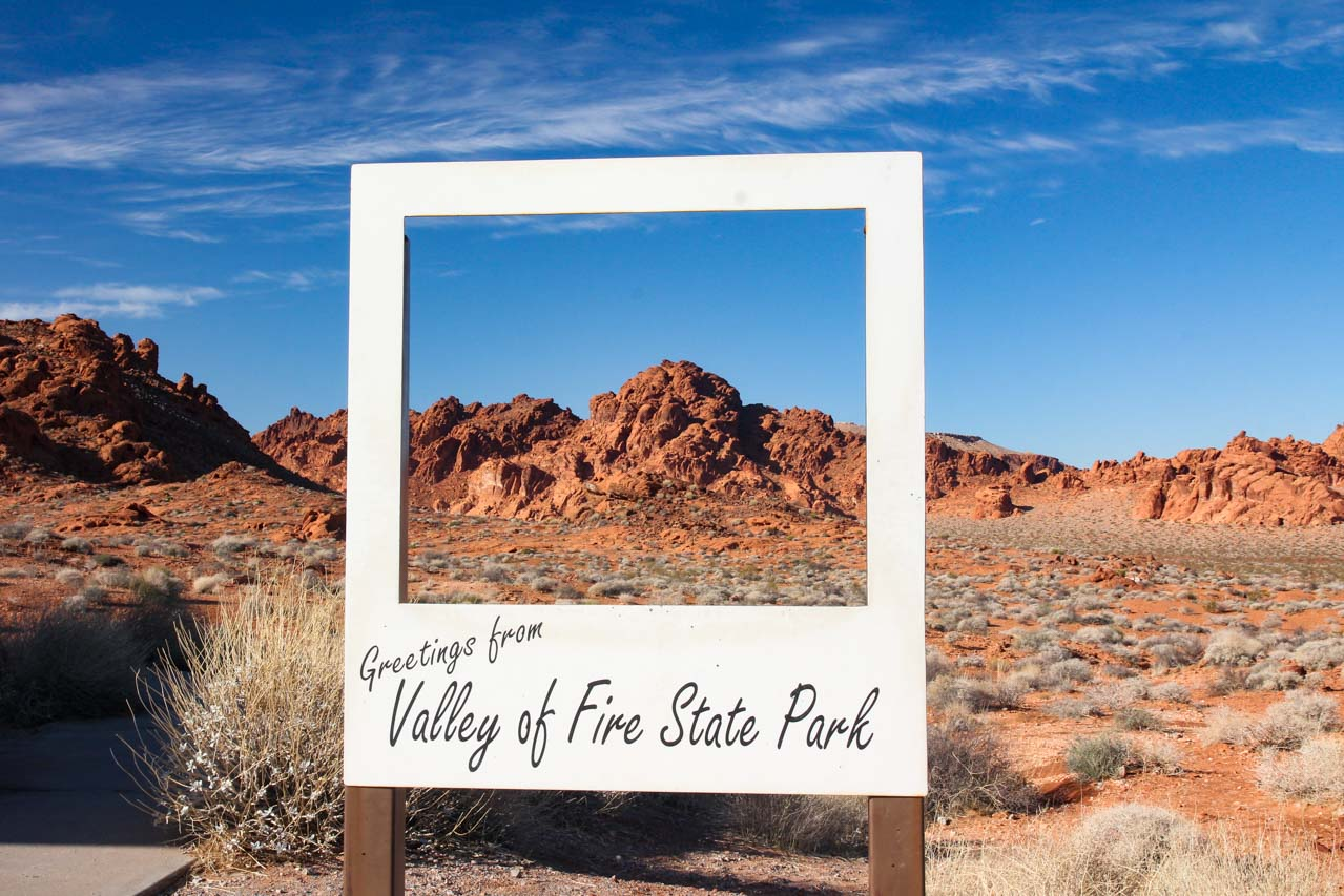 Valley of Fire State Park sign