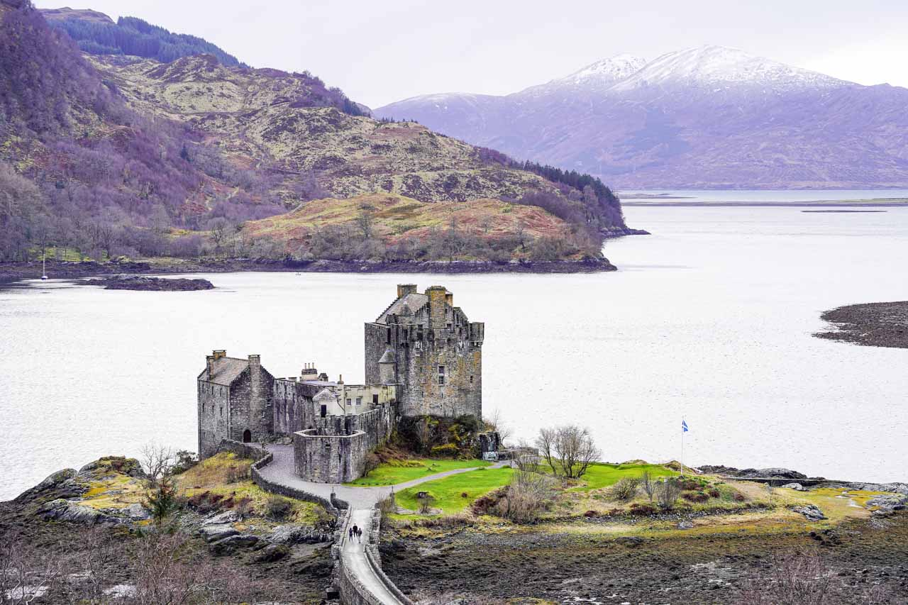 Photo of Eilean Donan Castle with Loch Duich in the background