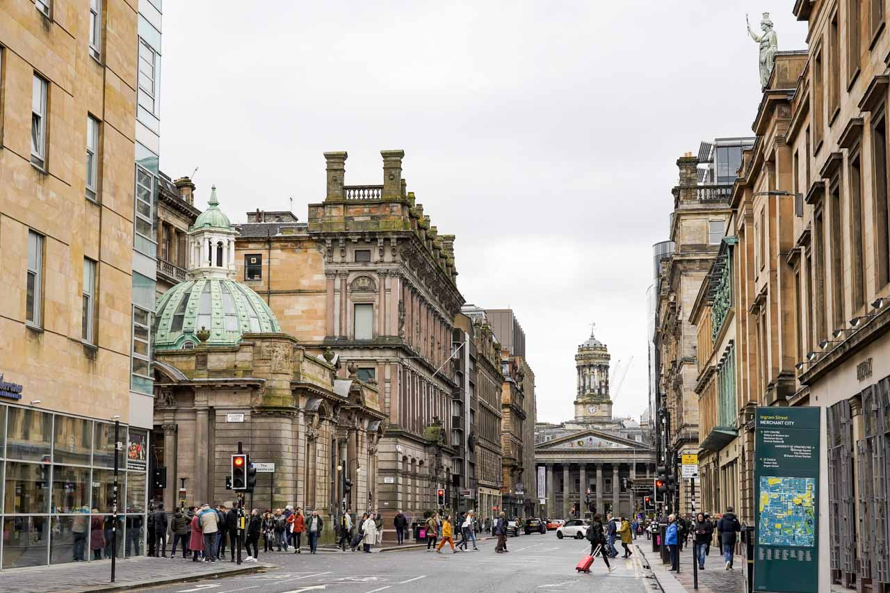 Photo of 18th century buildings in Glasgow