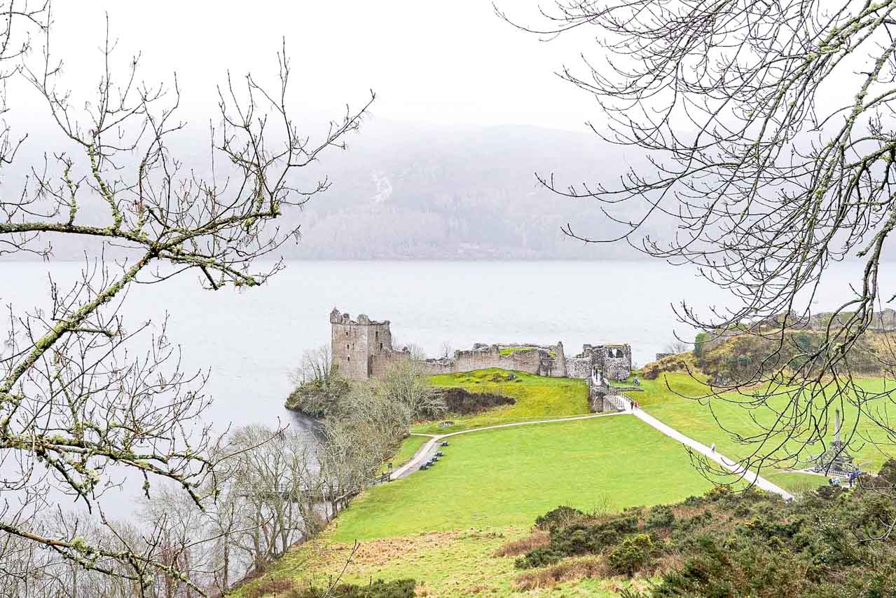 Photo of Urquhart Castle on the shores of Loch Ness