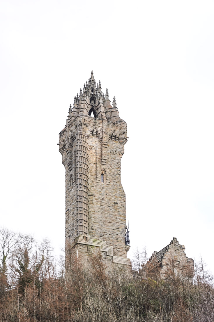 Photo of Gothic Revival monument on hilltop