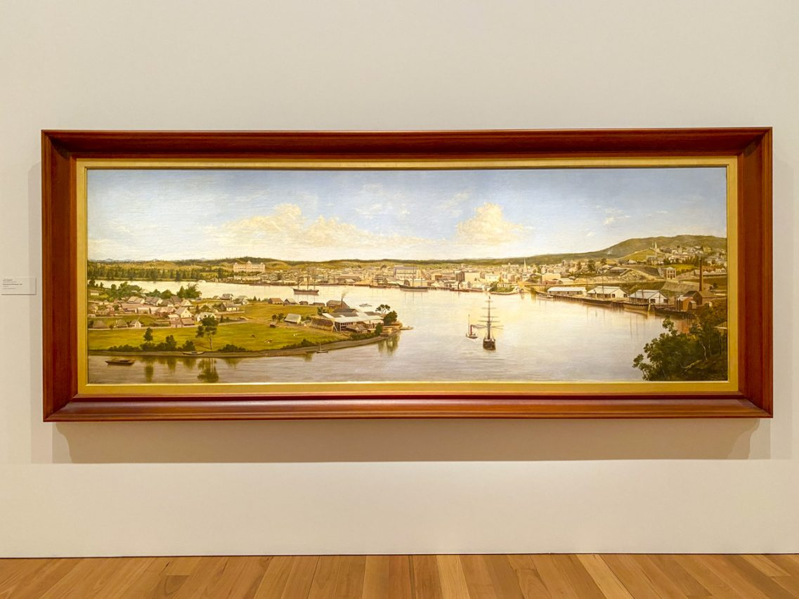 J.A. Clarke's Panorama of Brisbane, 1880